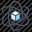 database, computation, science, block, data icon