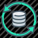 database, system, base, update, data icon