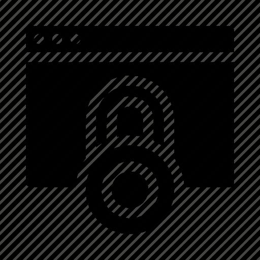 Application, block, data, database, lock icon - Download on Iconfinder