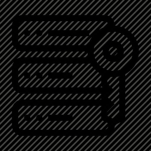 access, data, database, key, server icon