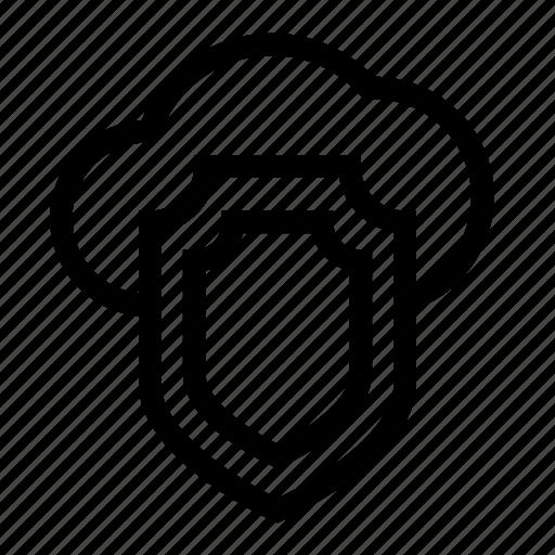 data, database, security, server, shield icon