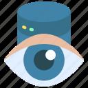 visible, data, storage, information, eye