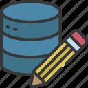 edit, data, storage, information, write