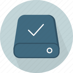 accept, database, hard-drive, storage icon