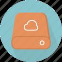 cloud, database, hard-drive, storage