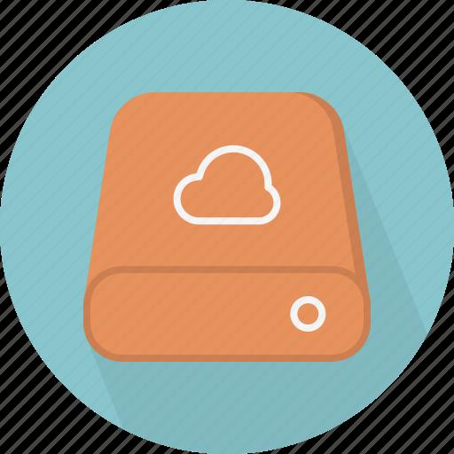 cloud, database, hard-drive, storage icon