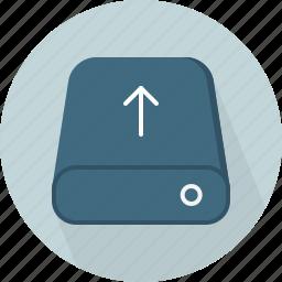 database, hard-drive, storage, upload icon