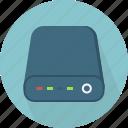 hard-drive, hub icon