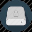 database, hard-drive, lock, storage