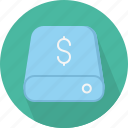 cost, database, hard-drive, money, storage icon