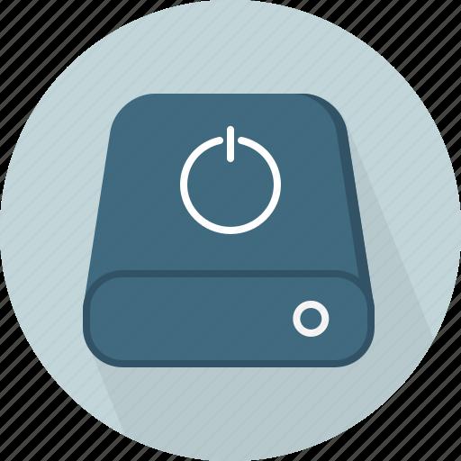 database, hard-drive, power, storage icon