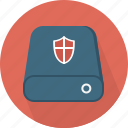 database, hard-drive, protection, storage icon