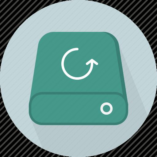 database, hard-drive, reload, storage icon