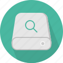 database, hard-drive, search, storage icon