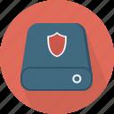 database, hard-drive, security, storage icon