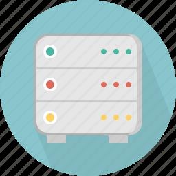 database, hard-drive, server, storage icon