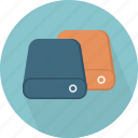 database, hard-drive, storage, storages icon