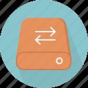 database, hard-drive, storage, sync
