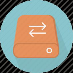 database, hard-drive, storage, sync icon