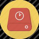database, hard-drive, storage, time icon