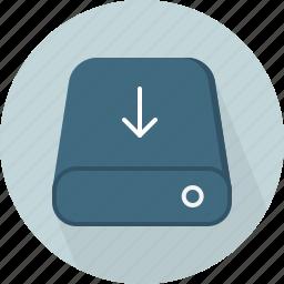 database, download, hard-drive, storage icon