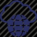 cloud, cloud optimization, cloud server, data storage icon
