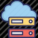 cloud data, cloud data storage, cloud server, cloud storage icon