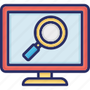 magnifying, magnifying glass, search file, search glass icon