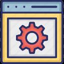 connection, development, optimization, optimized icon