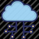 cloud, cloud computing, cloud sharing, network icon