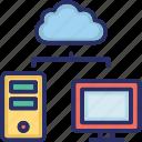 cloud storage, data, data storage, database, hosting icon