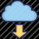 data storage, data transfer, copy, copy arrow icon