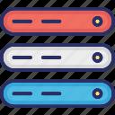 data, data storage, database, hard data storage icon
