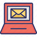 communication, email, envelope on screen, letter icon