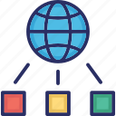 communication, domain, globe networking, network icon