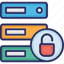 data security, data storage security, database security, server lock icon