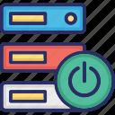 data, data storage, database, hosting icon