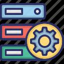 data optimization, data storage, database optimization, hosting optimization icon