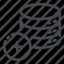 add, base, data, database, new, plus, storage icon