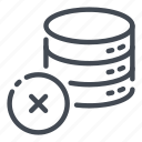 base, data, database, delete, remove, server, storage icon