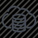 archive, cloud, data, database, server, storage
