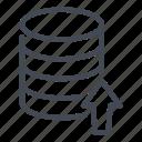 data, database, send, server, storage, up, upload