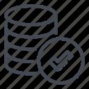 approve, check, data, database, server, storage, tick icon