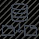 connect, database, file, folder, network, server, storage