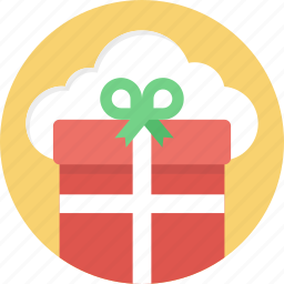 cloud gift service, online gifts, online gifts shopping, online greetings, wishlist cloud icon