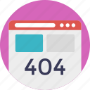 broken or deadlink, erroe, error 404, http 404, web page error message icon