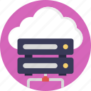 cloud computing, cloud data network, cloud server, cloud storage, database server icon