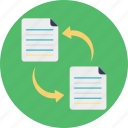 copy file, data transfer, file exchange, file sharing, file transformation icon