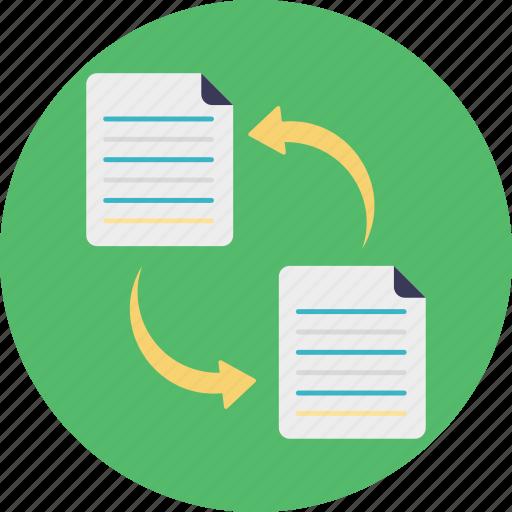 copy file, data transfer, file exchange, file sharing, file transformation icon