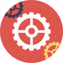 engineering, gears, mechanical, mechanism, technology icon